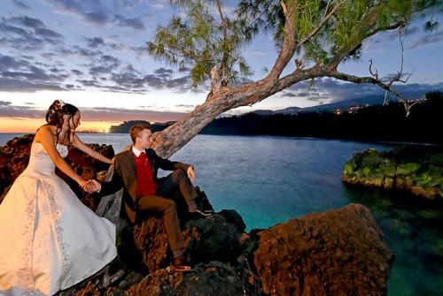 Mariage Réunion à Langevin au coucher du soleil