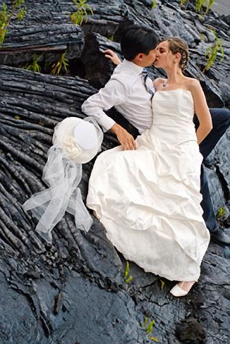 Mariage Réunion sur la lave à Saint-Philippe