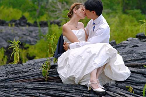 Mariage Réunion sur la lave de Saint-Philippe