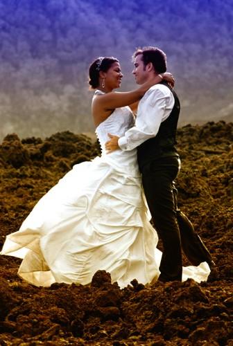 Mariage Réunion sur les pentes du Volcan