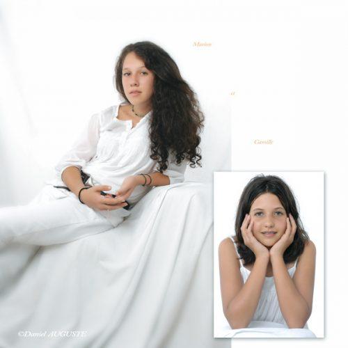 Portrait studio de Marion et Camille