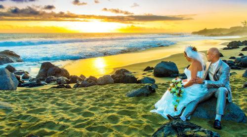 Mariage Réunion au coucher du soleil